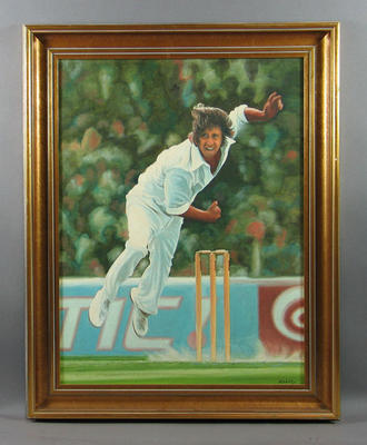 Painting, Jeff Thomson c1977; Artwork; Framed; M11109