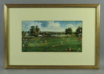 "Print, ""A Cricket Match at Brading"", 1750"