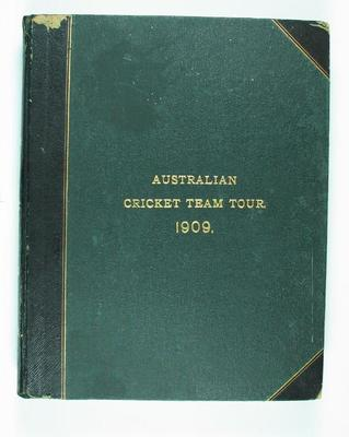 Scrap book compiled by Frank Laver, Australian Cricket Team Tour - 1909