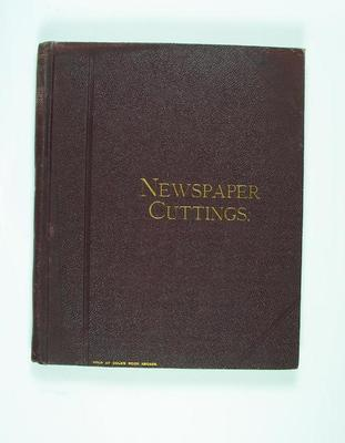 Scrap book compiled by Frank Laver, newspaper clippings relating to cricket c1899-1900