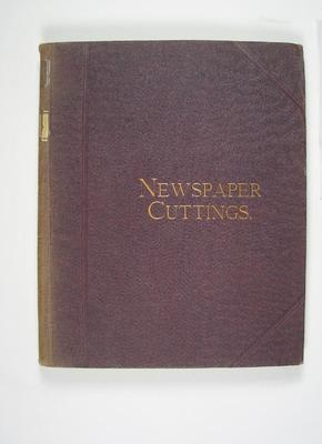 Scrap book compiled by Frank Laver, contains clippings related to cricket 1902-04