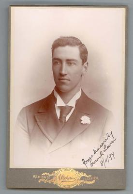 Photograph from Frank Laver's photograph album, image of Frank Laver - 1899