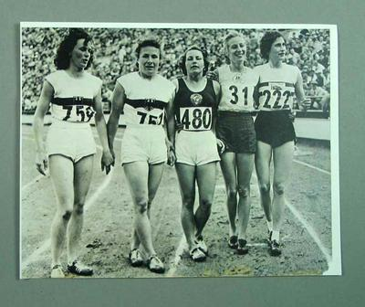 Photograph (copy) finalists in the 1952  Olympic Games - Womens 80m Hurdles