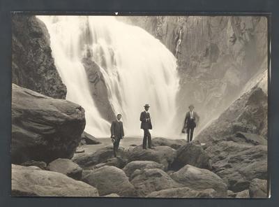 Photograph from Frank Laver's photograph album, travel scenes c1909