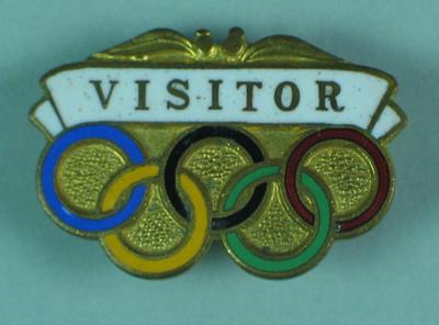 Badge - 1956 Melbourne Olympic Games Visitors Badge