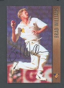 1996 Victorian Bushrangers Brad Williams trade card no. 2; Documents and books; M7526.2