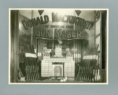 Photograph of Donald Mackintosh's gun shop at 400 Bourke Street, Melbourne