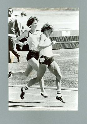 Photograph of Gaye Dell and Raelene Boyle, training for 1976 Montreal Olympic Games