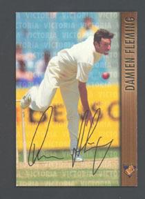 1996 Victorian Bushrangers Damien Fleming trade card no. 4