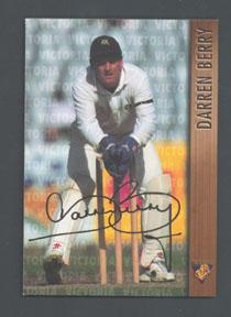 1996 Victorian Bushrangers Darren Berry trade card no. 9