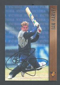 1996 Victorian Bushrangers Ian Harvey trade card no. 12