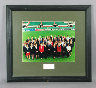 Photograph of Melbourne Cricket Club staff, 1996; Photography; Framed; M11241