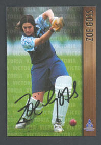 1996 Victorian Women's Cricket Association Zoe Goss trade card no. 18