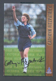 1996 Victorian Women's Cricket Association Cathryn Fitzpatrick trade card no. 19; Documents and books; M7526.19