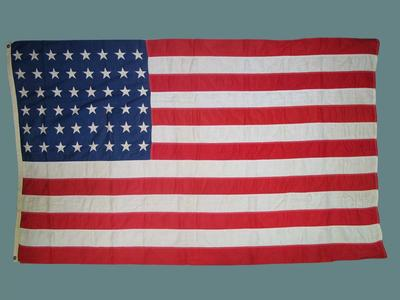 United States of America flag, used by US Marines in Guadalcanal campaign - 1942