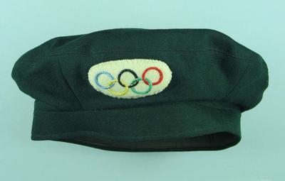 Beret - 1956 O.G. Volunteer Driver Hat worn my Gwenyth Strasser; Clothing or accessories; 1998.3413.3