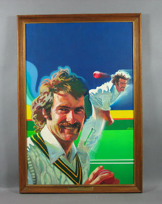 Painting, Dennis Lillee c1975