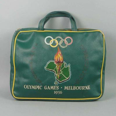 Bag - 1956 Melbourne Olympic Games carry bag used by Gwenyth Strasser; Personal effects; 1998.3413.5