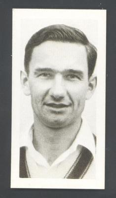 1956 Kane Products Ltd Cricketers Jim Burke trade card