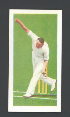 1956 Kane Products Ltd Cricketers  Bob Appleyard  trade card