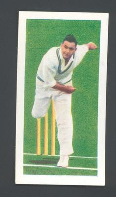 1956 Kane Products Ltd Cricketers  Alec Bedser trade card