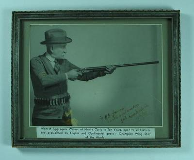 Framed photograph of Donald Mackintosh, c1930s