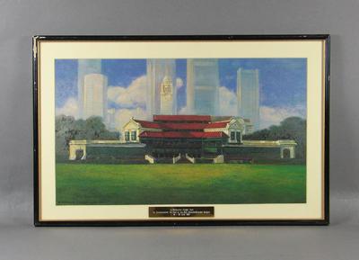 Painting of Singapore Cricket Club, 1991