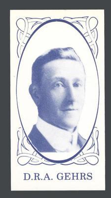 1986 Universal Cigarette Card Co Australian Cricket Team 1905 D R A Gehrs trade card