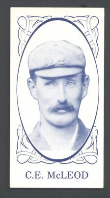 1986 Universal Cigarette Card Co Australian Cricket Team 1905 C E McLeod trade card