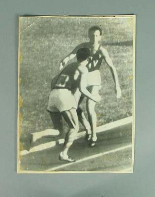 Photograph - runners John Landy and Ron Clarke during 1956 Australian National Mile Championship