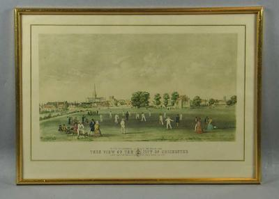 """Print, """"This View of the City of Chichester"""""""