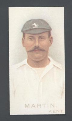 1982 Wills' Cigarettes Cricketers A Nostalgia Reprint F Martin trade card; Documents and books; M9889.29