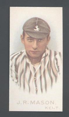 1982 Wills' Cigarettes Cricketers A Nostalgia Reprint J R Mason trade card