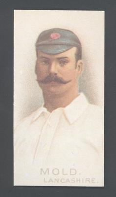 1982 Wills' Cigarettes Cricketers A Nostalgia Reprint A W Mold trade card; Documents and books; M9889.31