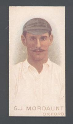 1982 Wills' Cigarettes Cricketers A Nostalgia Reprint G Mordaunt trade card; Documents and books; M9889.32
