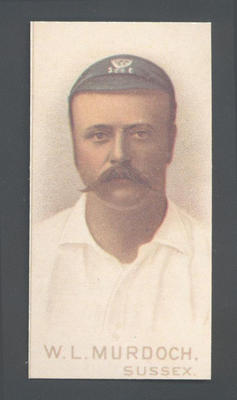 1982 Wills' Cigarettes Cricketers A Nostalgia Reprint W L Murdoch trade card; Documents and books; M9889.33