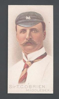 1982 Wills' Cigarettes Cricketers A Nostalgia Reprint Sir T C O'Brien trade card; Documents and books; M9889.36