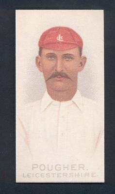 1982 Wills' Cigarettes Cricketers A Nostalgia Reprint D Pougher trade card; Documents and books; M9889.38