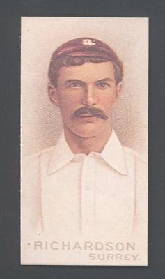1982 Wills' Cigarettes Cricketers A Nostalgia Reprint T Richardson trade card; Documents and books; M9889.43