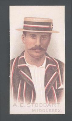 1982 Wills' Cigarettes Cricketers A Nostalgia Reprint A E Stoddart trade card