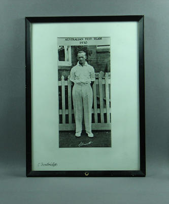 Photograph of Clarrie Grimmett, c1930; Photography; Framed; M11407