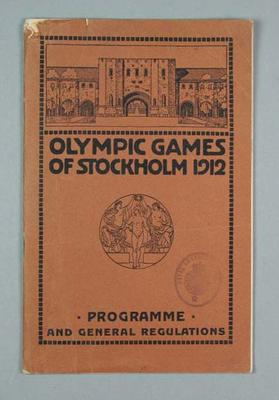 "Booklet - ""Olympic Games of Stockholm 1912 - Programme and General Regulations"""