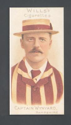 1983 Wills' Cigarettes Cricketers A Nostalgia Reprint Capt Wynyard trade card; Documents and books; M9890.18