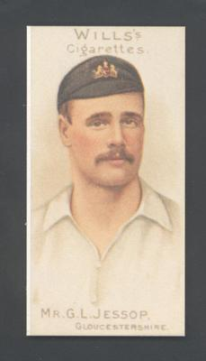 1983 Wills' Cigarettes Cricketers A Nostalgia Reprint G L Jessop trade card; Documents and books; M9890.19