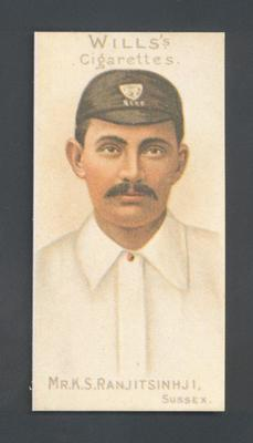 1983 Wills' Cigarettes Cricketers A Nostalgia Reprint K S Ranjitsinhji trade card; Documents and books; M9890.21