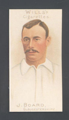 1983 Wills' Cigarettes Cricketers A Nostalgia Reprint J Board trade card; Documents and books; M9890.24