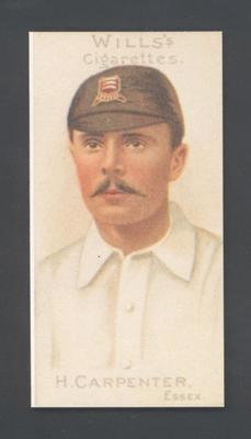 1983 Wills' Cigarettes Cricketers A Nostalgia Reprint H Carpenter trade card; Documents and books; M9890.25
