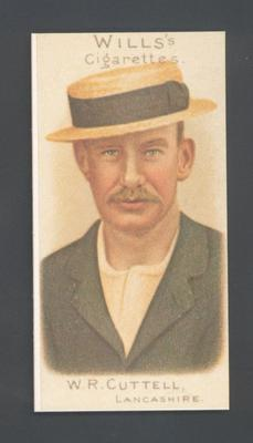 1983 Wills' Cigarettes Cricketers A Nostalgia Reprint W R Cuttell trade card; Documents and books; M9890.27