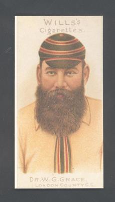 1983 Wills' Cigarettes Cricketers A Nostalgia Reprint W G Grace trade card; Documents and books; M9890.29
