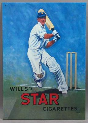 """Advertising sign, """"Wills's Star Cigarettes"""""""